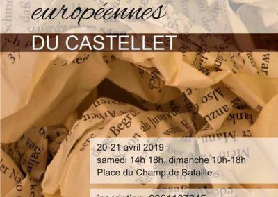 Rencontres littéraires européennes du Castellet : 20 –  21 avril 2019