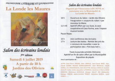 5ème édition du « SALON DES ECRIVAINS LONDAIS »