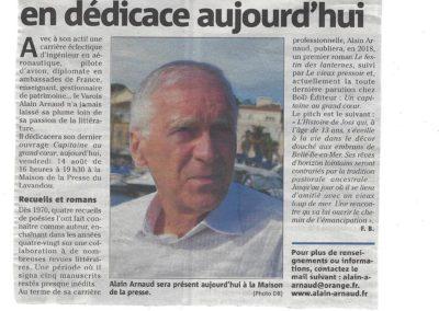 Article dans Var-Matin