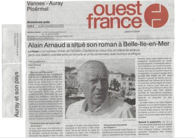 Article de Ouest France 3/09/2020