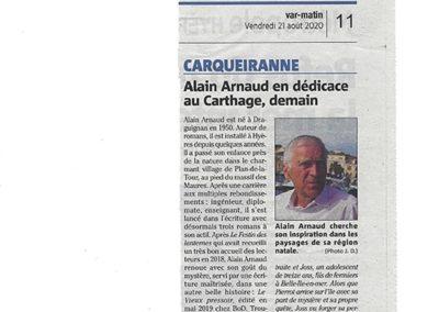 VAR-MATIN – Article Dédicace à Carqueiranne – J-M DUMONT