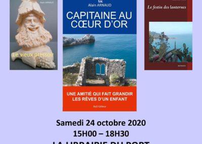 Dédicace à La Librairie du Port à Toulon le samedi 24 octobre 2020