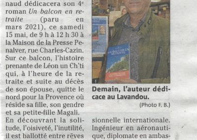 Article VAR-MATIN de Francine Brochot
