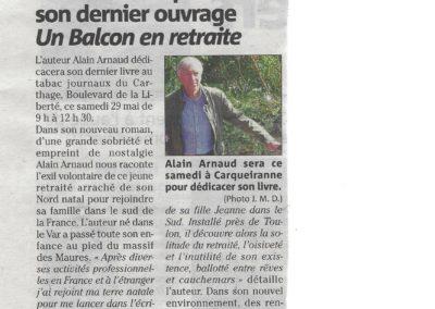 Article de Jean-Michel Dumont paru dans Var-Matin